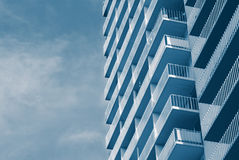 Beach Condos. Architecture repeating pattern Stock Images
