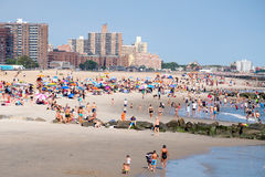 The beach at Coney Island in New York City Stock Images