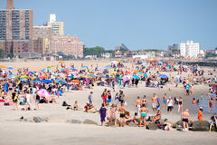 The beach at Coney Island in New York City Royalty Free Stock Image