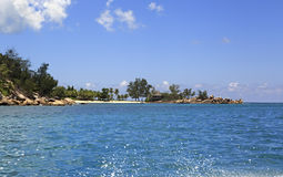 Beach at Constance Lemuria Resort. Praslin Island Royalty Free Stock Photography