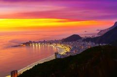 beach copacabana de janeiro Ρίο _ Στοκ φωτογραφία με δικαίωμα ελεύθερης χρήσης