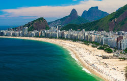 beach copacabana de janeiro Ρίο Στοκ φωτογραφίες με δικαίωμα ελεύθερης χρήσης