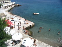 Beach on corfu. Greece stock image