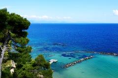 The beach on Corfu island Royalty Free Stock Photography
