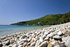 Beach at Corfu island, Greece Royalty Free Stock Photos