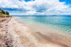 Beach at Corfu island in Greece. Stock Photo