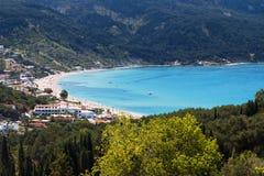 Beach at Corfu island in Greece Royalty Free Stock Image