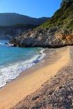 Beach in Corfu stock photos