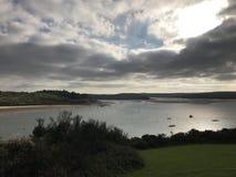 Cornwall beach stock image