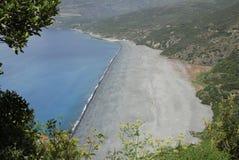 Beach in Corsica. Nonza beach,in  Corsica, France Stock Photos