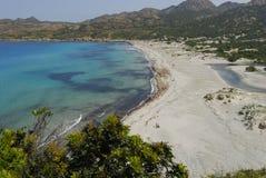 Beach in Corsica. Ostriconi beach,in Corsica, France royalty free stock photos