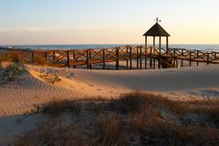 Beach of Cortadura ( Cadiz ) Royalty Free Stock Photos