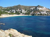 Beach in Costa Brava Royalty Free Stock Images