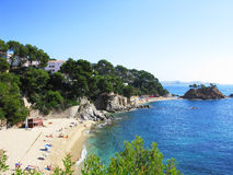 Beach in Costa Brava Stock Images