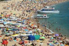 Beach in Costa Brava Stock Images