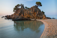 Beach in Costa Brava Stock Photo