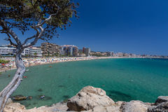 Beach on the Costa Brava (Sant Antoni de Calonge) Royalty Free Stock Image