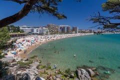 Beach on the Costa Brava (Sant Antoni de Calonge) Royalty Free Stock Photo