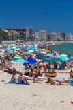 Beach on the Costa Brava (Sant Antoni de Calonge) Royalty Free Stock Images