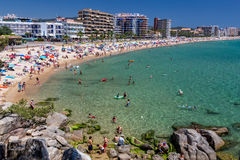 Beach on the Costa Brava (Sant Antoni de Calonge) of Spain Stock Photography