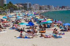 Beach on the Costa Brava (Sant Antoni de Calonge) of Spain Stock Photo
