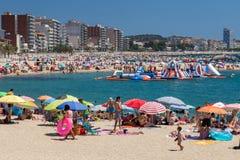 Beach on the Costa Brava (Sant Antoni de Calonge) of Spain Stock Image