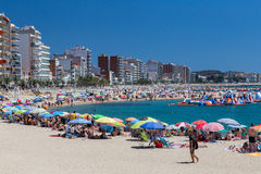 Beach on the Costa Brava (Sant Antoni de Calonge) of Spain Stock Images