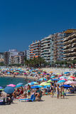 Beach on the Costa Brava (Sant Antoni de Calonge) of Spain Royalty Free Stock Photo