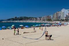 Beach on the Costa Brava (Sant Antoni de Calonge) of Spain Royalty Free Stock Image