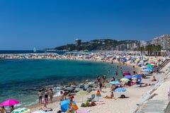 Beach on the Costa Brava (Sant Antoni de Calonge) of Spain Royalty Free Stock Images
