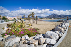 Beach on Costa del Sol in Spain Royalty Free Stock Photos