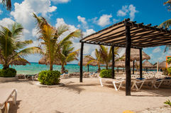 Beach in Costa Maya. Beach in carraibe costa maya mexico Stock Photography