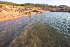 Beach in Costa Paradiso, Sardinia, Italy Royalty Free Stock Image