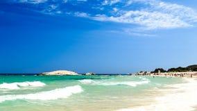 The beach of Costa Rei, Sardinia Royalty Free Stock Image