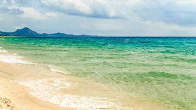 The beach of Costa Rei, Sardinia Royalty Free Stock Photo
