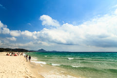 The beach of Costa Rei, Sardinia Stock Image