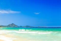The beach of Costa Rei, Sardinia Royalty Free Stock Photos