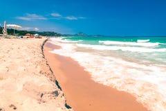 The beach of Costa Rei, Sardinia Stock Photos