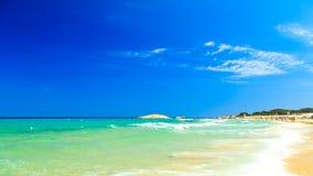 The beach of Costa Rei, Sardinia Stock Images