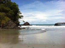 Beach in Costa Rica. Beach at Manuel Antonio Park in Costa Rica stock image