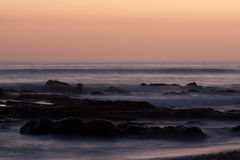 Beach in costa rica after sunset. Royalty Free Stock Images