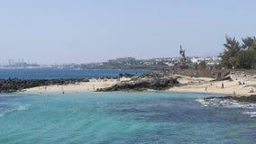 Beach in Costa Teguise Stock Photos