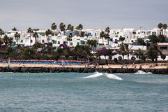 The Beach Of Costa Teguise, Lanzarote Royalty Free Stock Image