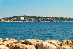 Beach on cot`d Azur. Near Antibes stock images