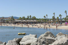 Beach at Cote d'Azur, France Stock Image