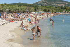 Beach at Cote d'Azur, France Stock Images