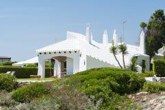 Beach cottage, Menorca, Spain Stock Photos