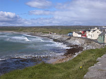 Beach at County Clare. Rugged rocky Atlantic beach on Irelands wild west coast Stock Images