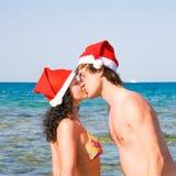 beach couple Стоковое Изображение RF