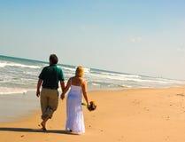 beach couple Στοκ Φωτογραφία